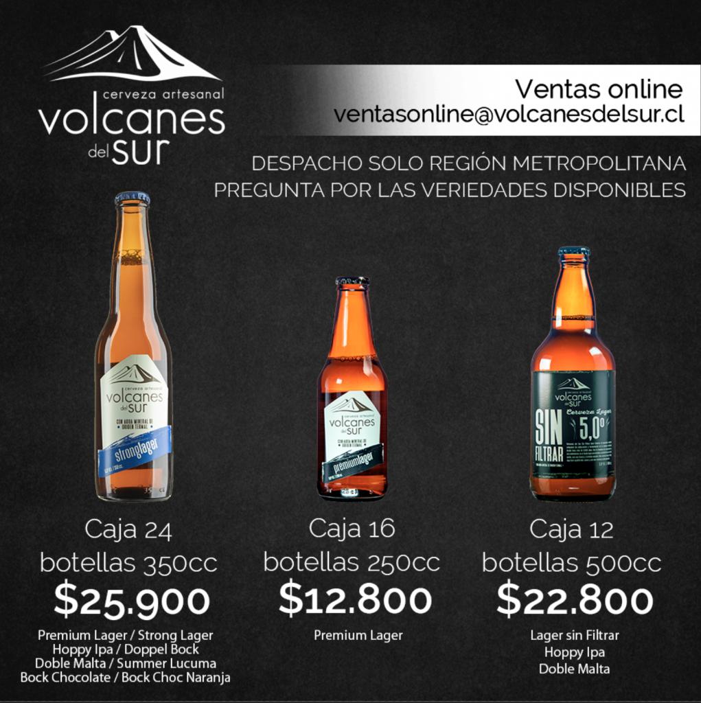 Mándanos un mail a ventasonline@volcanesdelsur.cl y accede a estas promociones.
